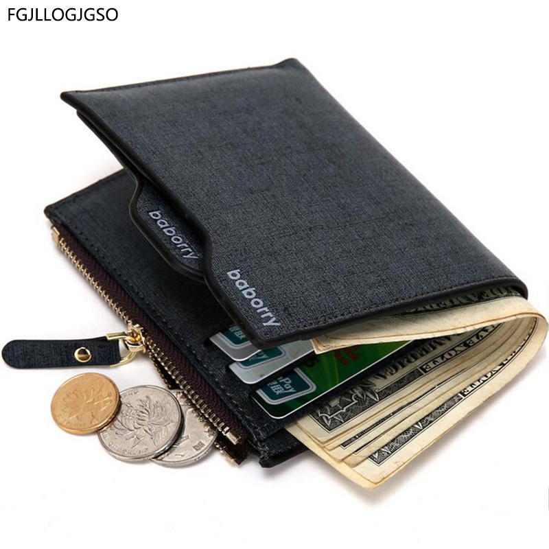 2017 Hot New arrival Fashion Men's leather wallet with zipper coin pocket male purse with removable card holder Free shipping simline fashion genuine leather real cowhide women lady short slim wallet wallets purse card holder zipper coin pocket ladies