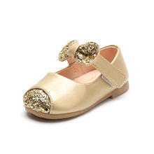 Flat Shoes Kids Girls 2018 Designer Sneakers With Shiny StonesToddler Bow-knot Footwear Children Dance