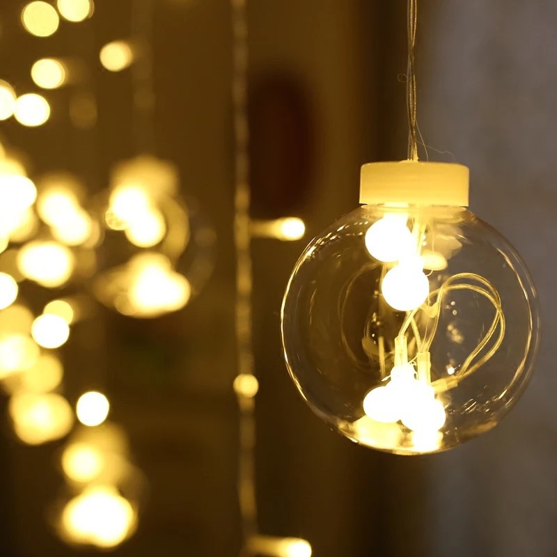 string led bedroom fairy background living christmas bulb decoration creative party battery lamp lights individuality zoom lighting