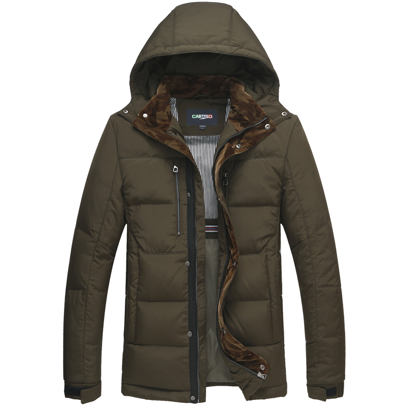 DZYS Men's Thick Duck   Down   Jacket 90%   Down     Coat   with Hat Detachable for Men Male 5627