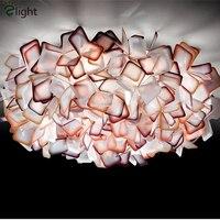 Nordic дизайнерские цветы светодио дный потолочные светильники Lustre красочные акриловые спальня светодио дный светодиодный потолочный светил