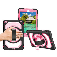 Miesherk for iPad Mini 4 Case Kids Safe Drop Proof Anti-Dust Case 360 Rotating Stand and Leather Hand Strap Protective Shell miesherk case for air 2 kids safe with hand shoulder strap and stand shockproof full protective cover for ipad 9 7 inch coque