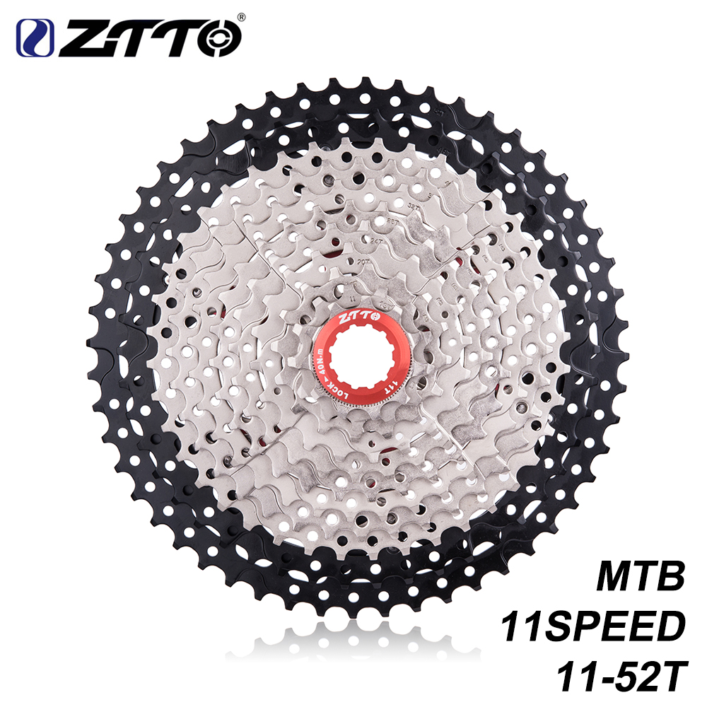 ZTTO MTB 11Speed L Cassette 11s 11 - 52T Wide Ratio Freewheel Mountain Bike Bicycle Parts for k7 X1 XO1 XX1 m9000 все цены
