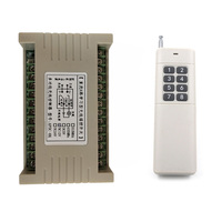 3000m Wide Range DC 12V 24V 8 CH 8CH RF Wireless Remote Control Switch Remote LED Lamp Switch 10A Relay Receiver Transmitter