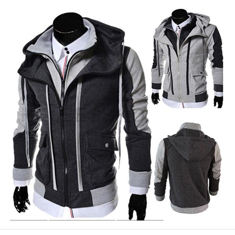 ae41ef789de ... Layer Zipper Hoodies and Sweatshirt Color Contrast Men Hoody Jacket  Sudaderas Hombre 3 Colors. aeProduct.getSubject() aeProduct.getSubject()  aeProduct.