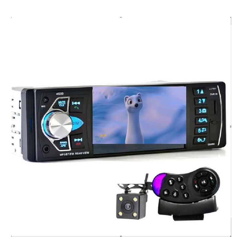 Autoradio Mp3 MP5 lecteur DVD Bluetooth voiture haut-parleur autoradio 1 din SD/USB/TV télécommande Audio avec caméra de recul