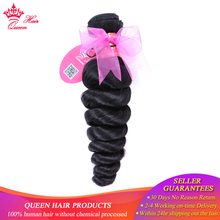 Queen Hair Products Brazilian Loose Wave Remy Hair Bundles 10″ – 30″ Natural Color 1 Piece 100% Human Hair Weave