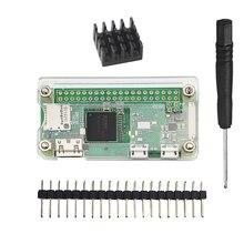 ラズベリーパイゼロワットアクリルケース + アルミ熱シンク rpi ゼロボックスカバーシェル筐体ケースも RPI ゼロ V1.3
