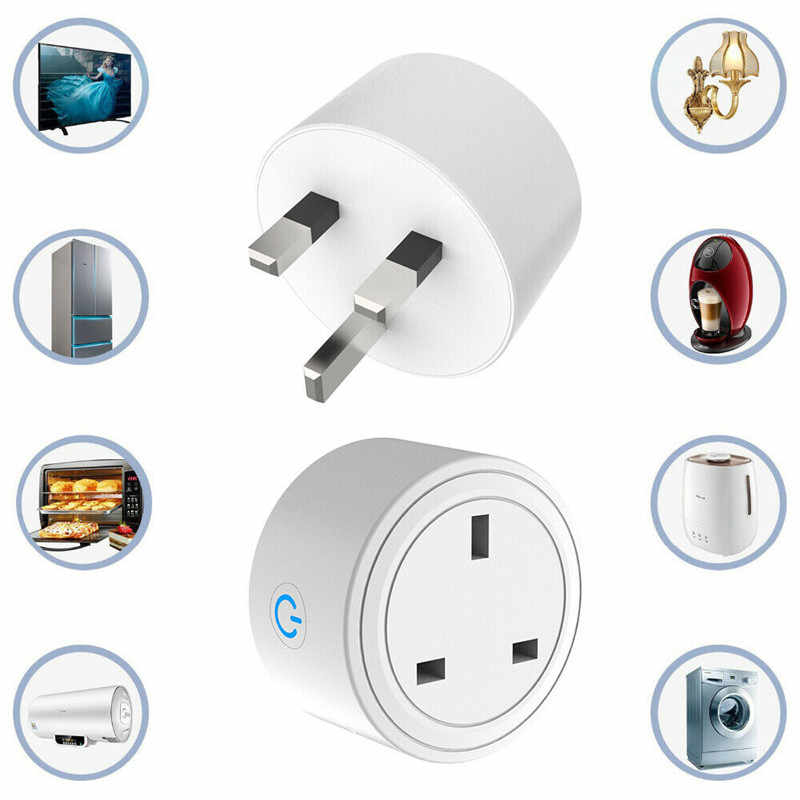 Inteligentne gniazdo zasilania ue w wielkiej brytanii nam wylot adapter wtyczki dla Amazon Alexa Echo asystenta Google Homekit Mini IFTT Wifi inteligentna wtyczka