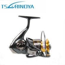 TSURINOYA FS800/1000 Spining Carrete 9 + 1BB 5.2: 1 Metal Carrete De Aluminio Moulinet Mouche Peche Bobina Pesca Carretilhas De Pescaria