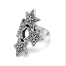Big Pentacle Pentagram Style Mens Rings Titanium Steel Vintage Rock Punk Classic Fashion Party Biker Jewelry wholesale high quality mens punk 316l stainless steel pentagram star rings for men biker finger rings rock jewelry us size 9 12
