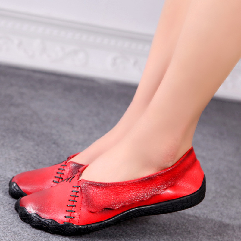 Fashion designer flats womens summer shoes Driving shoes genuine leather Sandals comfortable font b woman b