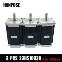 Cheap CNC 3PCS Nema 23 Stepper Motor Dual Shaft 57BYGH 2 8A 100mm CE ROHS ISO