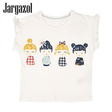 Jargazol Baby Girls Summer T-shirt Cotton Sleeveless Casual T shirts for Kids Children's Tops Tees 2018 New Arrival