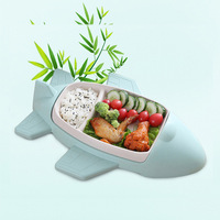 Baby Food Container Bamboo fiber Baby Tableware Dinnerware Toddler Kids Feeding Bowls dishes cartoon dinner Dinnerware Sets