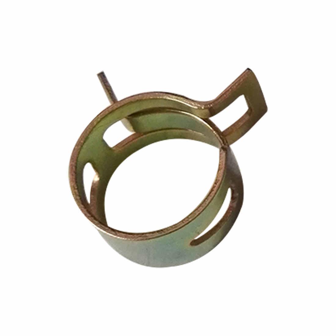 טוב! איכות 10Pcs 6-15mm אביב להקת סוג דלק צינור ואקום סיליקון צינור צינור קלאמפ קליפ רצפת מחיר