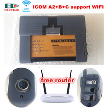 For BMW OBD2 scanner ICOM A2+B+C support WIFI ICOM A2 Best Quality obd2 Car diagnostic tool Interfa free router DHL Free Shippin(China (Mainland))