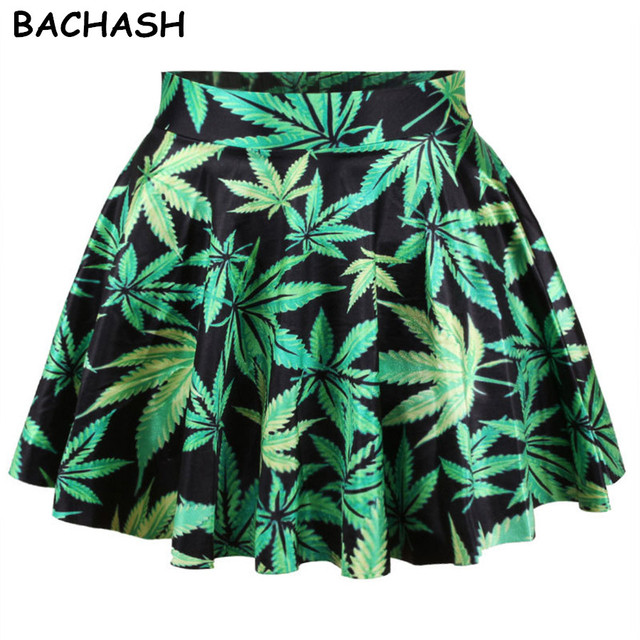 d4b9a56e1f BACHASH 2018 Floral Print Mini Skirt High Waist Tutu Pleated Skirt Galaxy  Pattern Tie-Dye