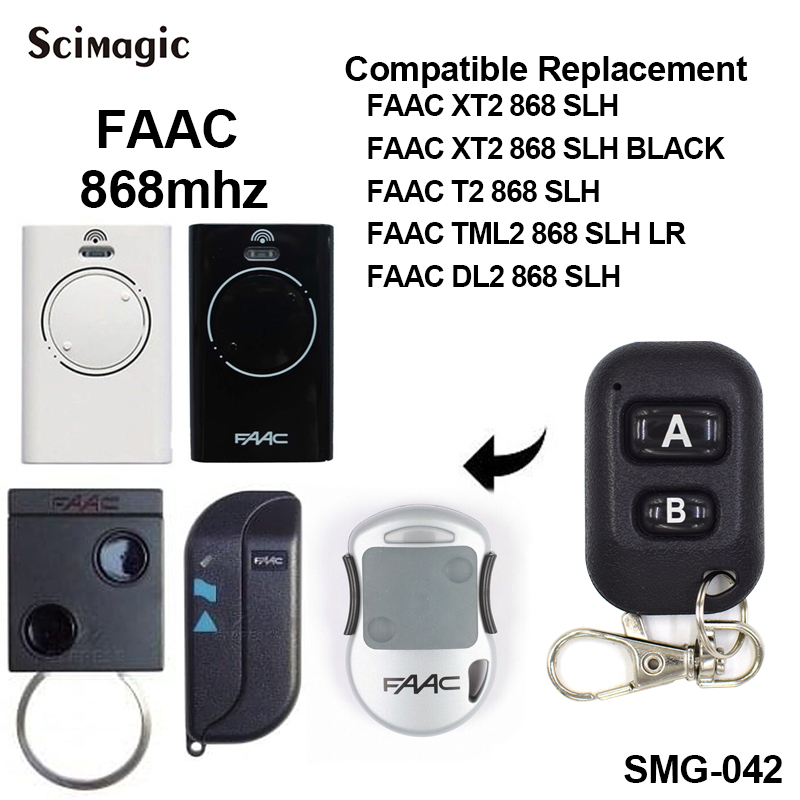 FAAC XT2 XT4 868SLH Self Learning Rolling Code Garage Door Opener Remote Control 868 MHz