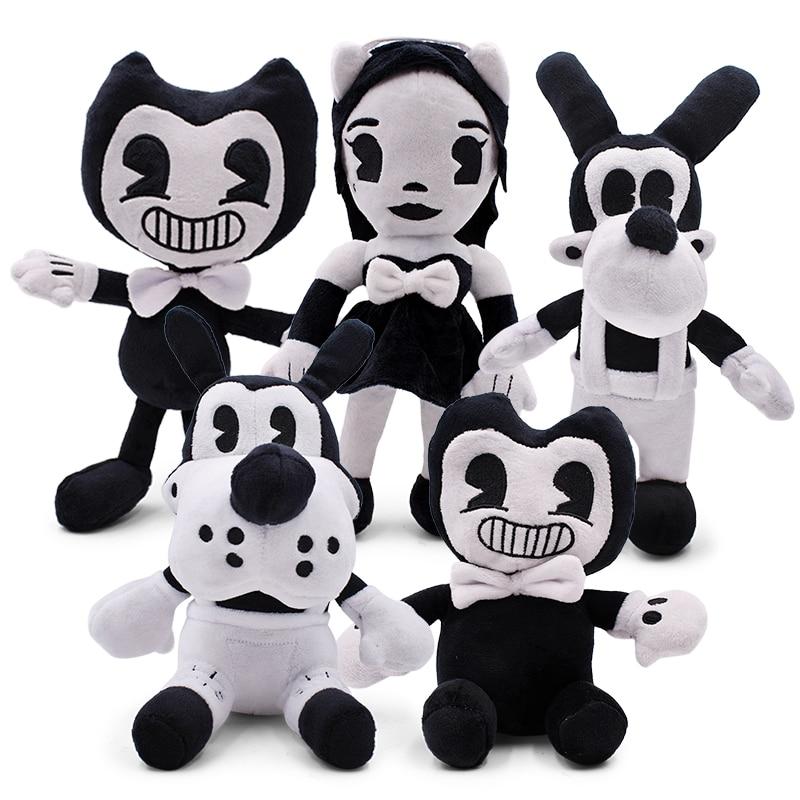 5 Style Bandy & Ink Maker Doll Cartoon Thriller Game Plush Toy Stuffed Animal Toys For Children Kids Gift 28cm