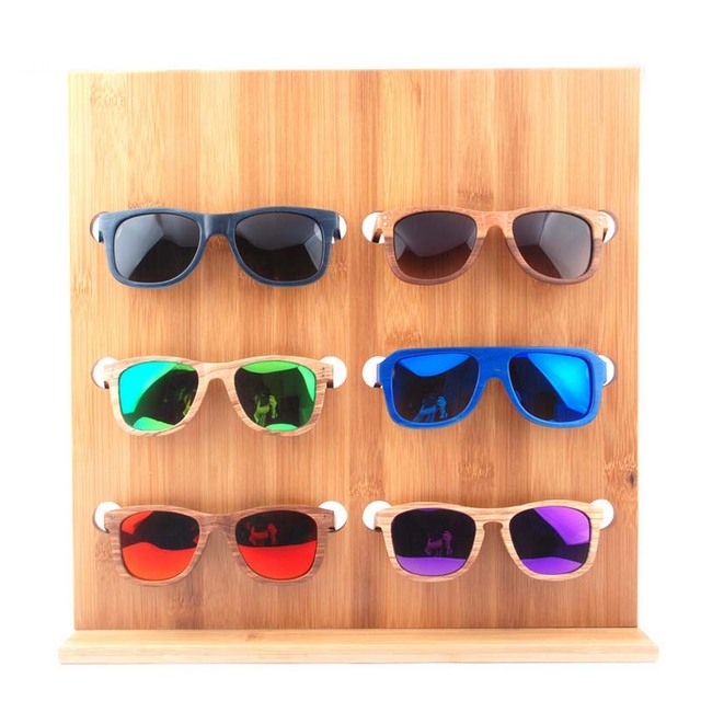 0fb08ccb13 Wooden Double Row Jewelry Sunglasses Display Shelf Vintage Wooden Frames  Props Holder