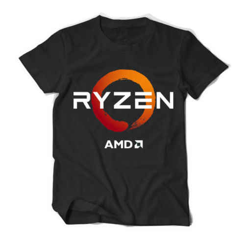 PC CP CPU Uprocessor AMD RYZEN Short Sleeve Black Men's T Shirt Size XS-2XL  Cool Casual pride t shirt men Unisex New Fashion