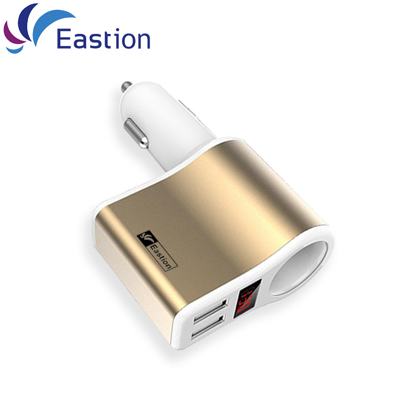 Car Charger For iPad iPhone 5 6 7 Adapter Device LED Display Smart Auto 2 Ports 2A USB Car-Charger Mobile phone Fast Charging