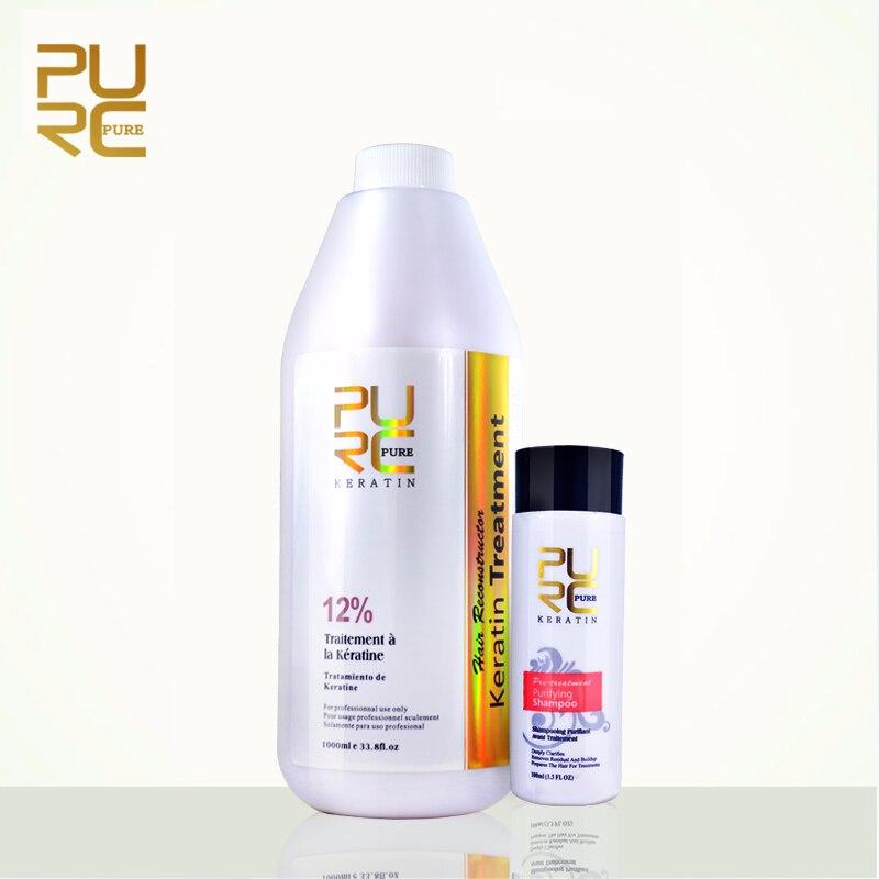 Réparation PURE et redressement des dommages produit capillaire 12% Formlain 1000 ml pur chocolat traitement à la kératine et shampooing purifiant