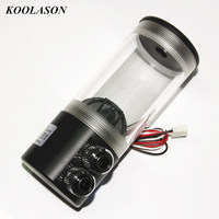 MS 500x New Acrylic Water Cooled Cylindrical Tank Water Pump Computer Water Cooling Kit Water Box