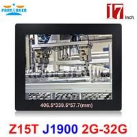 OEM 모두 하나의 Pc 2 미리메터 초박형 17 인치 터치 스크린 인텔 J1900 쿼드 코어