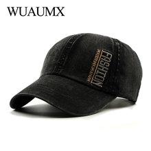 Wuaumx Casual Baseball Cap Men Women Fashion Embroidery Hats And Caps Streetwear Snapback Hip Hop Cotton Wash casquette