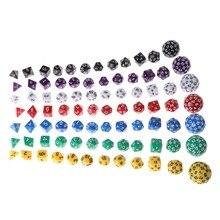 12 Stks/set Multi-Zijdige Polyhedral Dice Acryl Digitale Dobbelstenen D4 D6 D8 D10 D12 D20 D24 D30 D60