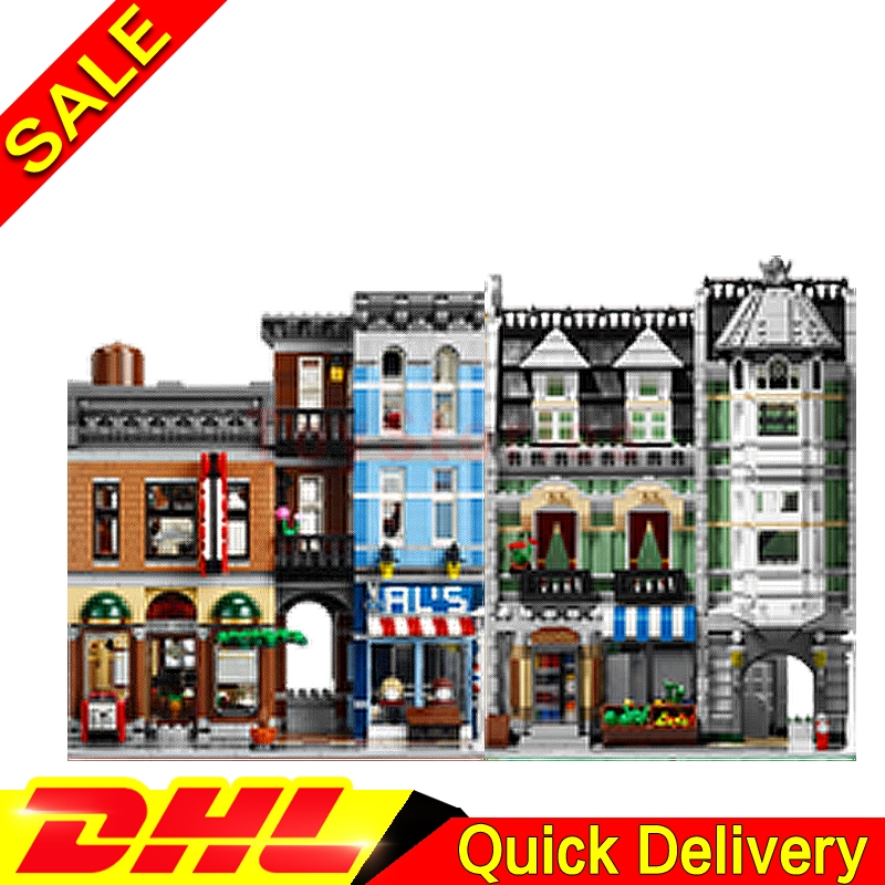 Lepin 15008 Green Grocer Lepin 15011 The Detective's Office Model Building Street Sight Blocks Bricks legoings Toys 10185 10197 lepin 15008 2462pcs city street green grocer model building kit set blocks bricks toy gift legoings toys clone 10185