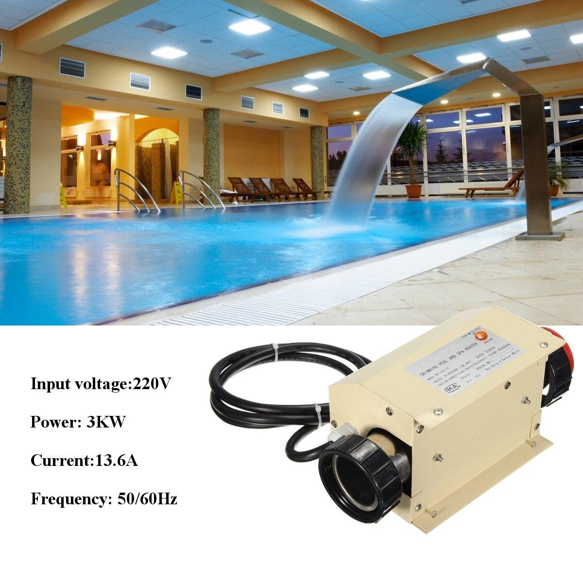 SPA водонагреватель спортивные 3KW Электрический плавательный бассейн гидромассажная Ванна Отопление ванной водонагреватель термостат 220 В