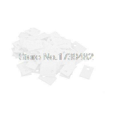 100Pcs 12x18mm Ceramic Insulator Plates Sheet for Transistor Heat Sink недорго, оригинальная цена
