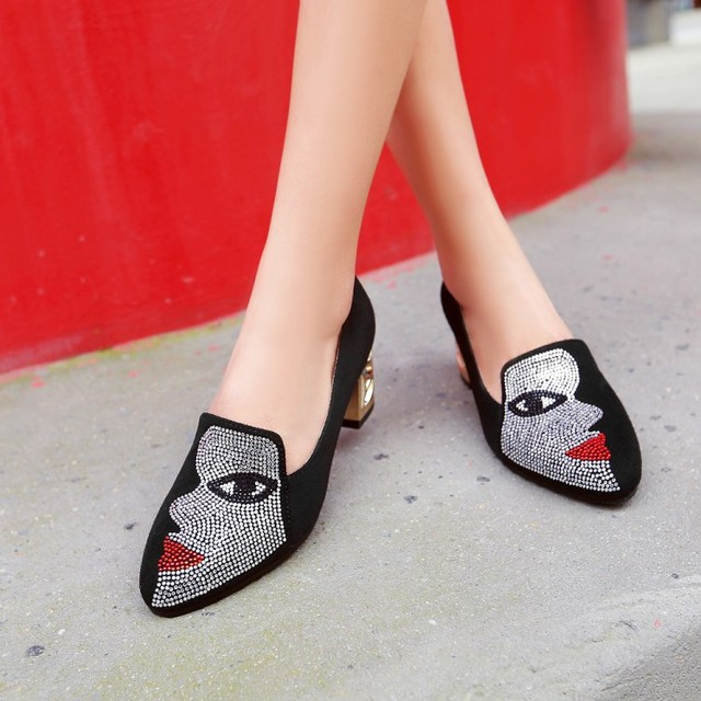 New fashion Big size 33 48 high spike heel pumps with buckle made of high quality pu women pointed toe  shoes 602