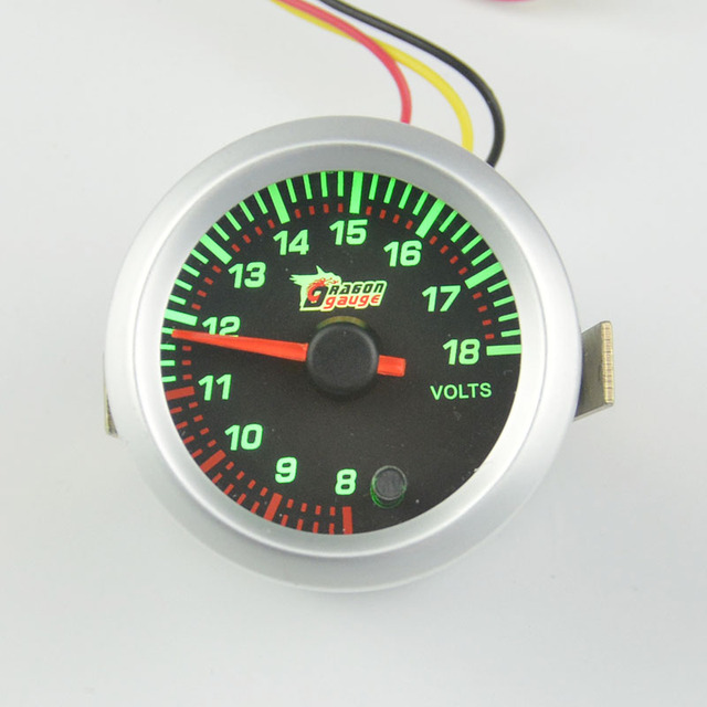 52mm  Stepper motor self-test function Car Motort Auto Voltage Gauge  Auto Gauge  7 colour Backlight free shipping