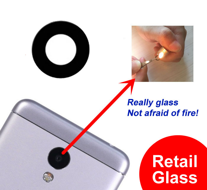 Ymitn New Retail Back Rear <font><b>Camera</b></font> lens <font><b>Camera</b></font> cover glass with Adhesives For <font><b>Meizu</b></font> M1 / M2 / M3 / <font><b>M3S</b></font> / M1 Metal image