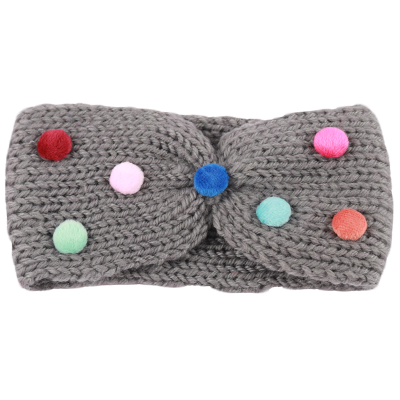 Soft Warm Earmuff Knitted Headband For Girl Kid Winter Outdoor Colorful Elastic Hairband Headwear Hair Accessories free shipping 2 colors newborn kid girl elastic flower headband hairband hair accessories
