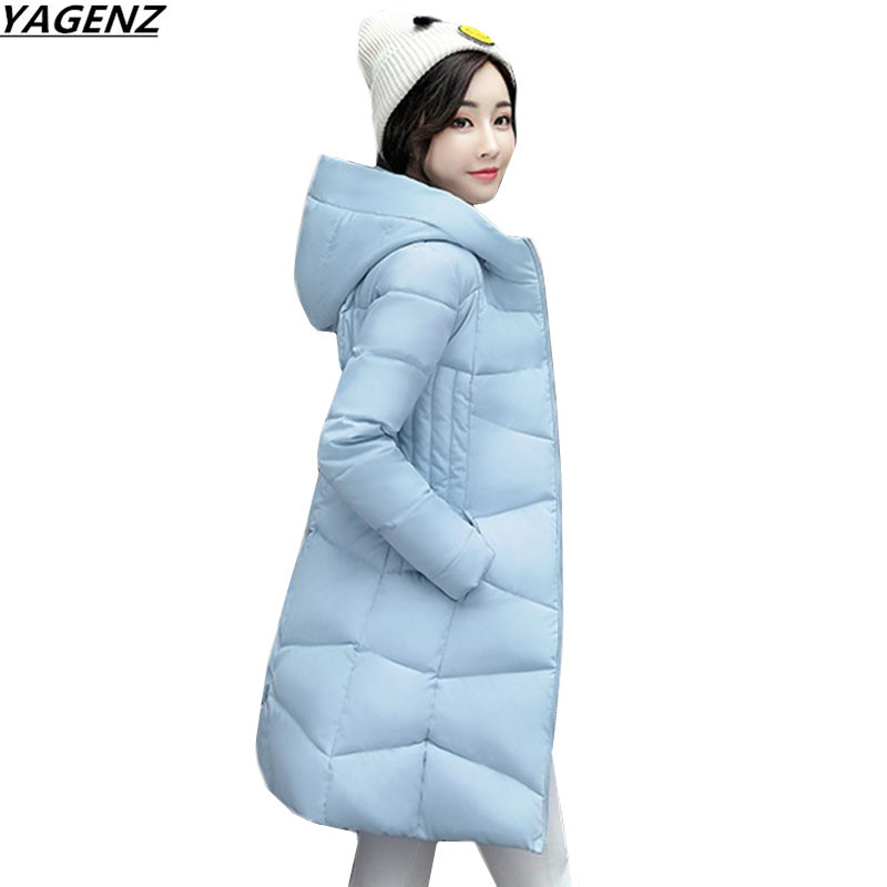 Women Winter Jacket Coat 2017 New Fashion Hooded  Warm Cotton-padded Jacket Plus Size Down Parkas Female Basic Coats YAGENZ K657 okxgnz winter cotton jacket coat women 2017long cotton padded costume hooded loose warm coats plus size women basic coats ah021