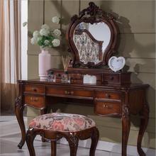Европейский зеркальный столик, антикварный комод для спальни, французская мебель, туалетный столик p10290