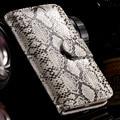 Горячая Snake Skin Leather Case for iPhone 5 5S SE Luxury Стенд Wallet Слот Для карты Photo Frame Обложка Флип Чехол для Apple iPhone 5S 5 SE