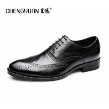 font b Men b font flats leather black classic business carved font b shoes b