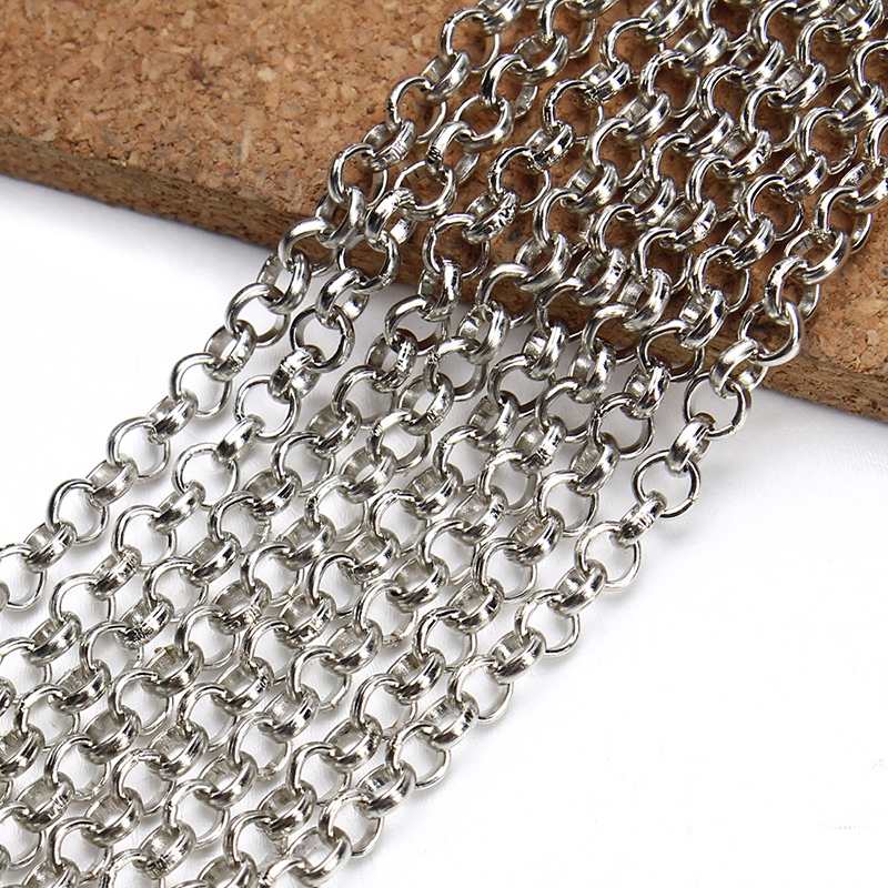 XINYAO 2meter/lot 2mm 3mm 4mm 5mm Stainless Steel Link O Chain Bulk Necklace Chain Diy Jewelry Making Necklace Material F2243 цена 2017