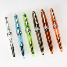 Transparent body Fountain pen Fine Iraurita nib student pens for writing signature jinhao 992 Stationery school supplies CB618 brand jinhao 101 financial tip 0 38mm fountain pen matte black extremely fine iraurita nib pens for writing school office supply