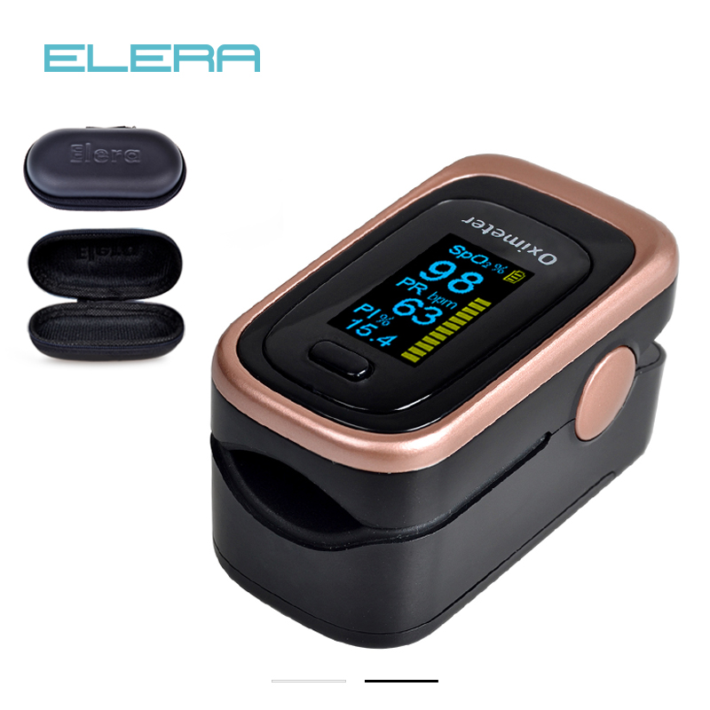 ELERA Finger Pulse Oximeter With Case 4 Parameter SPO2 PR PI ODI4 Oximetro De Dedo 8 Hour Sleep Monitoring Pulsioximetro elera new finger pulse oximeter with pouch spo2 pr pi oximetro de pulso digital blood oxygen saturometro pulsioximetro