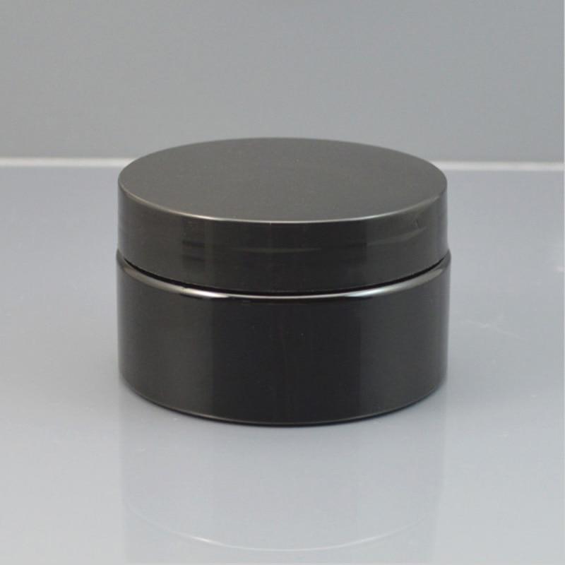 Frasco plástico do creme do recipiente cosmético do preto 30g 50g 100g, recipiente plástico vazio da reutilização do creme com logotipo feito sob encomenda imprimível das tampas