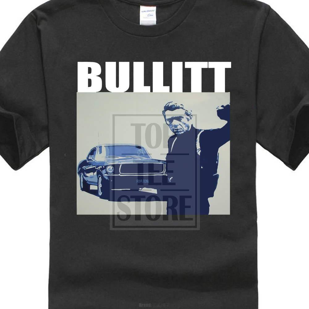 fashion Steve Mcqueen Bullitt T Shirt-Classico Film Vari Colori E Diioni 3D Printed Men's Tee Shirt 100% Cotton T Shirts