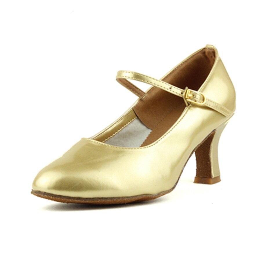 Peta 7cm Crno zlato Srebro Salsa Plesna obuća Zapatos Salsa Mujer - Tenisice - Foto 2