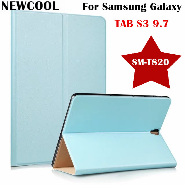 NEWCOOL Flip cover PU Leather Case For Samsung Galaxy Tab S3 9.7 SM-T825 T820 T829 Tablet case Smart Cover Protective shell pu leather case cover for samsung galaxy tab 3 10 1 p5200 p5210 p5220 tablet